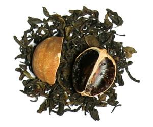 چای سبز و لیمو عمانی
